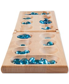 "Hey! Play! Wooden Folding Mancala Game, 0.75"" x 17.5"" x 5.5"""