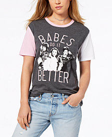 Love Tribe Juniors' Clueless Babes Graphic Ringer T-Shirt