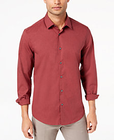 Alfani Men's STRETCH Modern Solid Shirt, Created for Macy's
