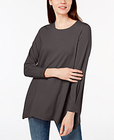 Eileen Fisher Stretch Jersey Round-Neck Tunic, Regular & Petite