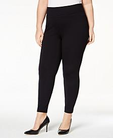 Plus Size Ponté-Knit Leggings, Created for Macy's