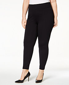Alfani Plus Size Ponté-Knit Leggings, Created for Macy's