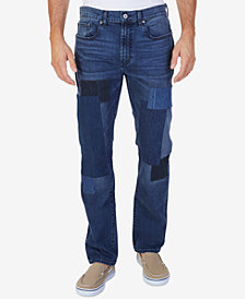 Nautica Men's Straight-Fit Stretch Patchwork Jeans