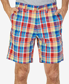 "Nautica Men's Big & Tall Classic-Fit Madras Plaid 8.5"" Shorts"