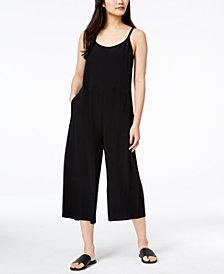 Eileen Fisher Tencel® Blend Sleeveless Cropped Wide-Leg Jumpsuit