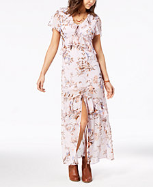 American Rag Juniors' Printed Ruffle Maxi Dress, Created for Macy's