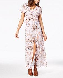 American Rag Juniors' Printed Ruffle Maxi Dress, Created for Macy's