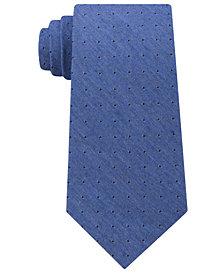 Calvin Klein Men's Dark Denim Dot Tie