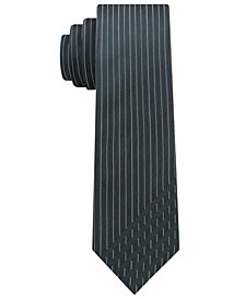 Calvin Klein Men's Graphic Dashes Skinny Silk Tie