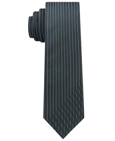 Calvin Klein Men's Graphic Dashes Skinny Silk Tie