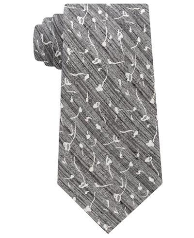 Calvin Klein Men's Mini Indigo Flower Tie