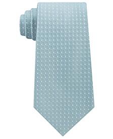 Men's Simple Grid Silk Tie