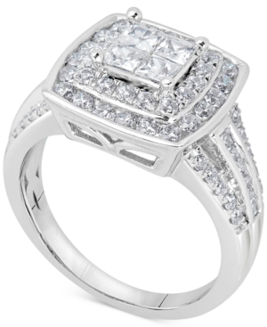 Diamond Princess Cluster Engagement Ring (1-1/2 ct.
