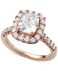 Diamond Cushion Halo Engagement Ring (2 ct. t.w.) in 18k Rose Gold