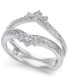 Diamond Enhancer Ring Guard (5/8 ct. t.w.) in 14k White Gold