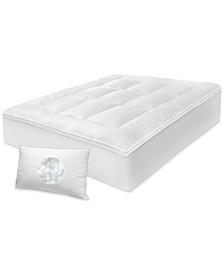 "3"" Any Position Twin XL Mattress Topper & Jumbo Pillow Set"