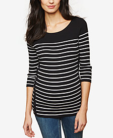 Motherhood Maternity Striped Cotton Jersey Top