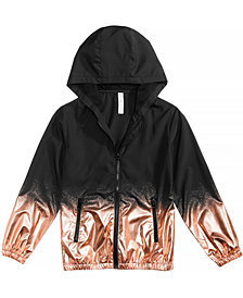 Ideology Metallic Splatter Hooded Jacket, Big Girls, Created for Macy's