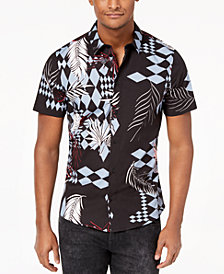 Versace Men's Diamond Palm-Print Shirt