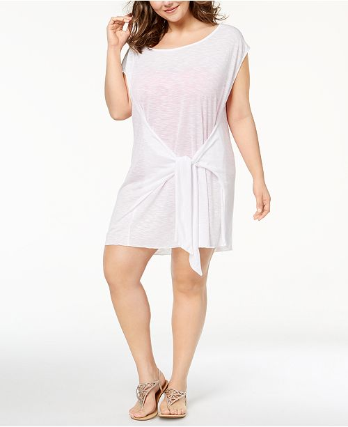 1ba44d0cad Becca ETC Plus Size Breezy Basics Tie-Front Dress Cover-Up & Reviews ...