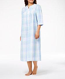 Miss Elaine Petite Woven Plaid Robe