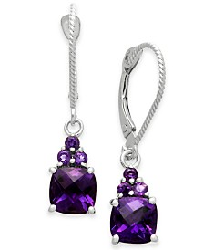 Amethyst Drop Earrings (1-3/4 ct. t.w.) in 14k White Gold