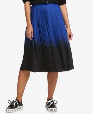 Dkny Pleated Ombre Midi Skirt, Created for Macy's thumbnail