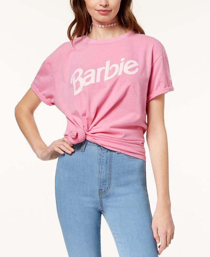 Love Tribe - Juniors' Barbie Logo Graphic T-Shirt