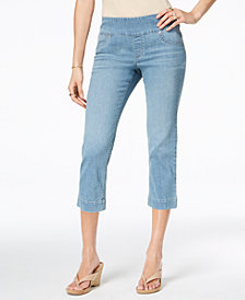 Style & Co Petite Pull-On Capri Jeans, Created for Macy's