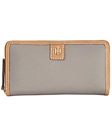 e1a32fce9c47 Tommy Hilfiger Julia Solid Nylon Zip Wallet