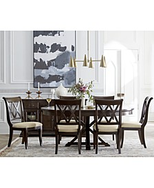 Baker Street Round Expandable Dining 7-Pc. Set (Dining Table & 6 Side Chairs), Created for Macy's