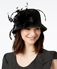 August Hats Jet Dressy Cloche