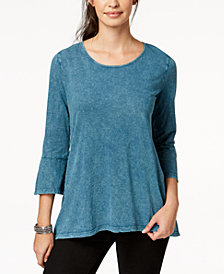 Style & Co Petite Cotton Bell-Sleeve Top, Created for Macy's