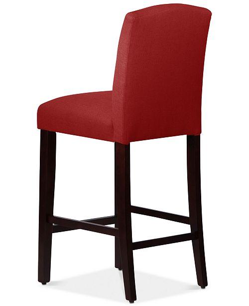 Martha Collection Callon Linen Bar Stool Quick Ship Furniture Macy S