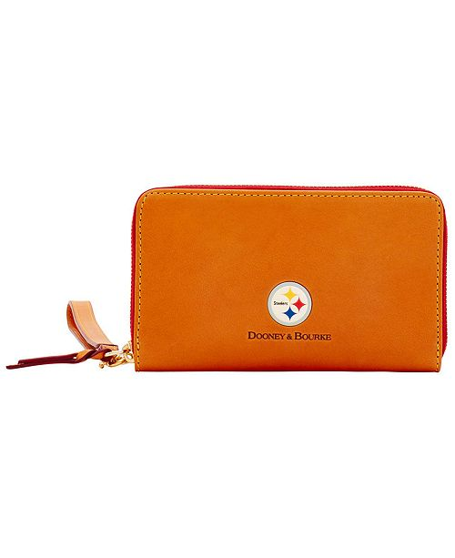 Dooney & Bourke Pittsburgh Steelers Florentine Zip Around Wallet