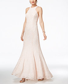 Nightway Glitter-Lace Mermaid Gown
