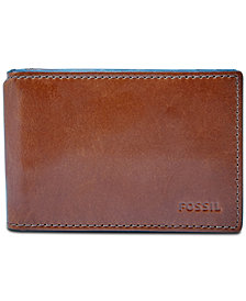 Fossil Men's Hugh Leather Money Clip Bifold Wallet