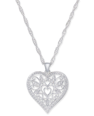 Giani bernini filigree heart pendant necklace in sterling silver 18 giani bernini filigree heart pendant necklace in sterling silver 18 aloadofball Image collections
