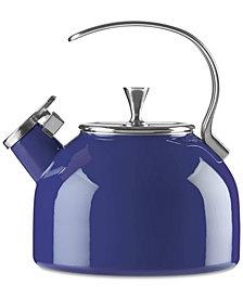 kate spade new york All in Good Taste Cobalt Tea Kettle