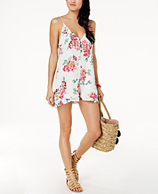 MINKPINK Pretty Petals Cover-Up Romper