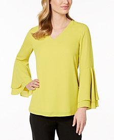 Alfani Petite Bell-Sleeve Blouse, Created for Macy's