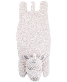Cuddle Me Luxury Plush Tummy Time Mat Blanket Ivory Unicorn