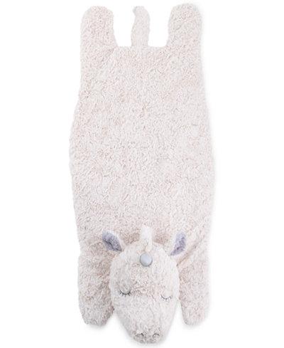 Cuddle Me Luxury Plush Tummy Time Mat Blanket Ivory Unicorn