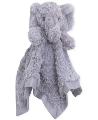 Luxury Plush Security Blanket Grey Elephant