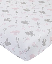 Ballerina Bows Crib Sheet