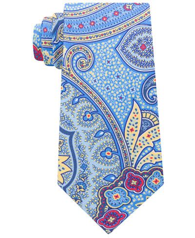 Tommy Hilfiger Men's Tropical Paisley Silk Tie