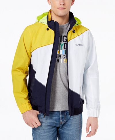 Tommy Hilfiger Men's Endeavour Pieced Colorblocked Hooded Regatta Jacket, Created for Macy's