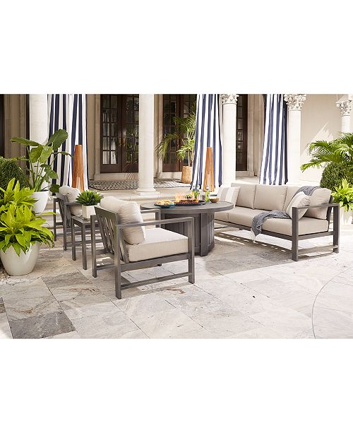 Furniture Aruba Grey Outdoor Seating Collection, with Sunbrella® Cushions, Created for Macy's