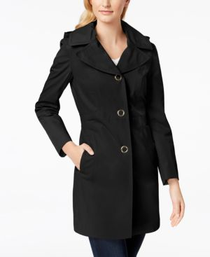 HOODED LIGHTWEIGHT TRENCH COAT