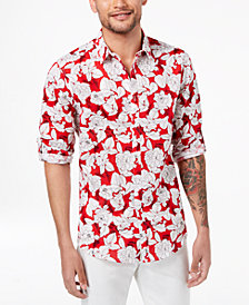 I.N.C. Men's Kevin Floral Shirt, Created for Macy's